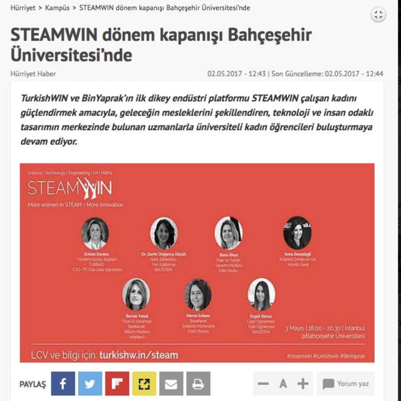 TurkishWIN ve BinYaprak'ın ilk dikey endüstri platformu olan STEAMWIN
