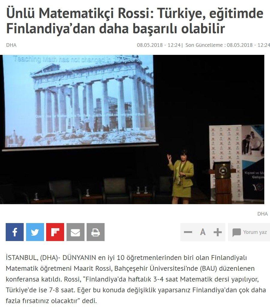 Türkiye, eğitimde Finlandiya'dan daha başarılı olabilir