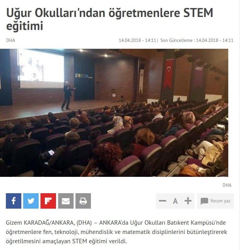 Uğur Okulları'ndan Öğretmenlere STEM Eğitimi