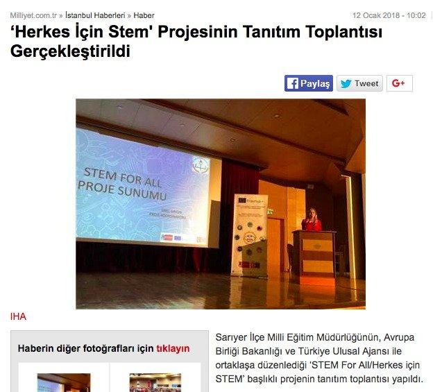 BAUSTEM Erasmus+ Herkes icin STEM Projesi Paydaşı