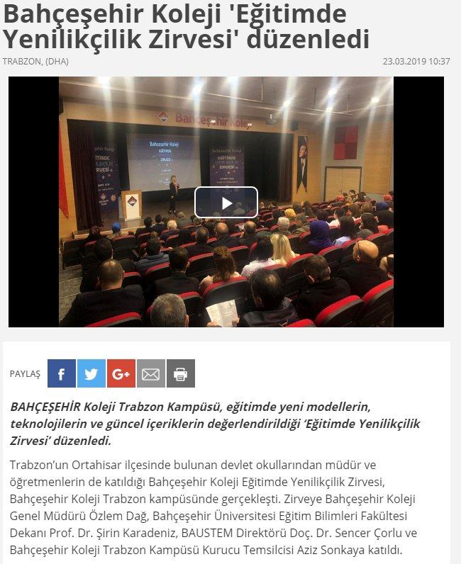 Trabzon BK Eğitimde yenilikçilik Konferansı