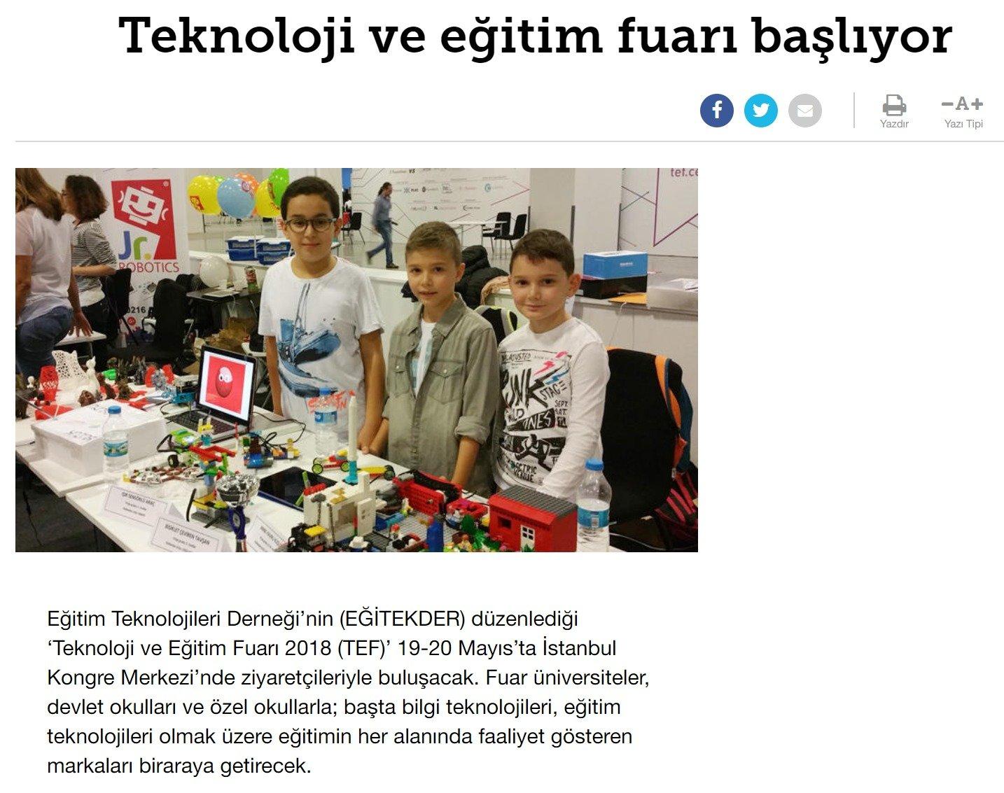 Teknoloji ve Eğitim Fuarı'nda STEM