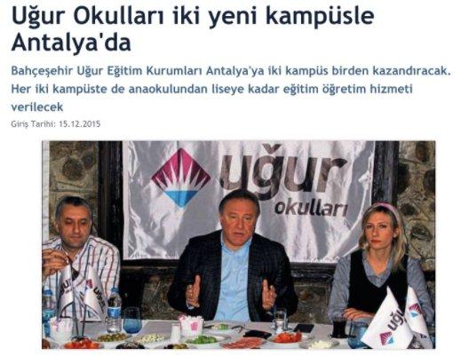 Uğur Okulları İki Yeni Kampüsle Antalya'da