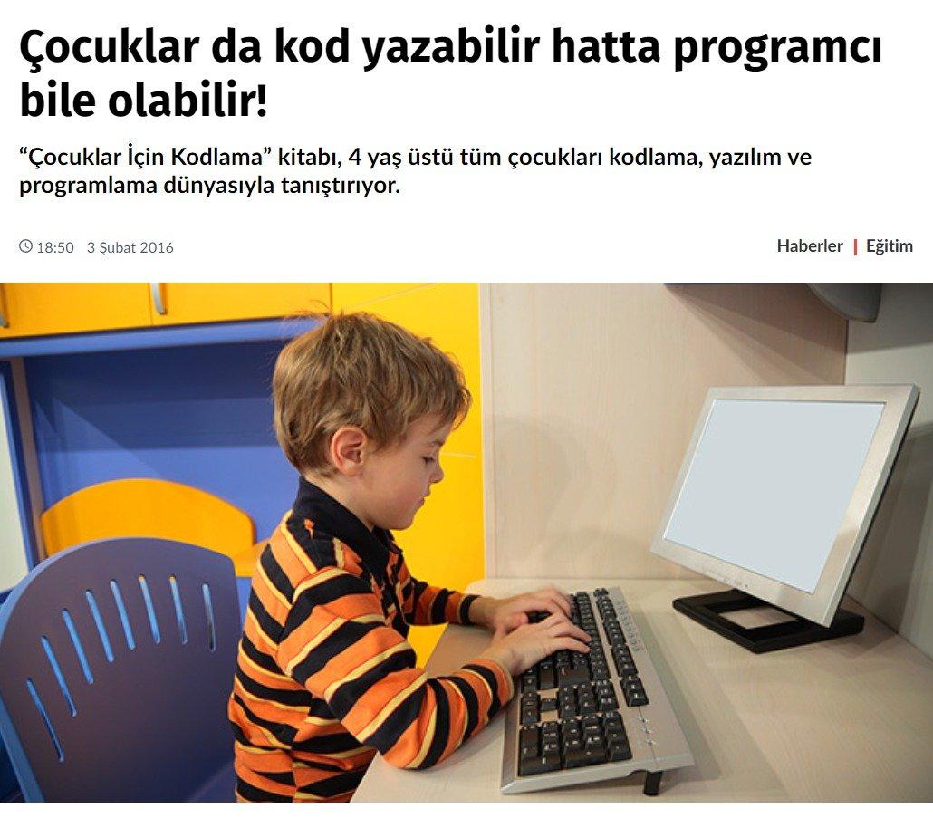 Çocuklar da Kod Yazabilir Hatta Programcı Bile Olabilir!