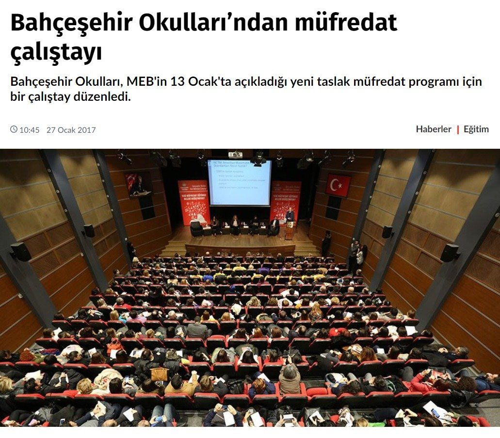 Bahçeşehir Okulları'nda Müfredat Çalıştayı