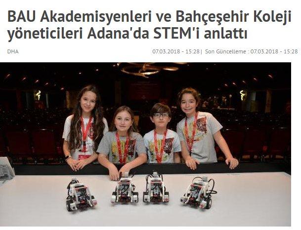 BAU Akademisyenleri ve Bahçeşehir Koleji Yöneticileri Adana'da STEM'i Anlattı
