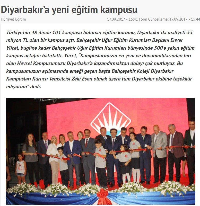 Diyarbakır'a Yeni Eğitim Kampüsü