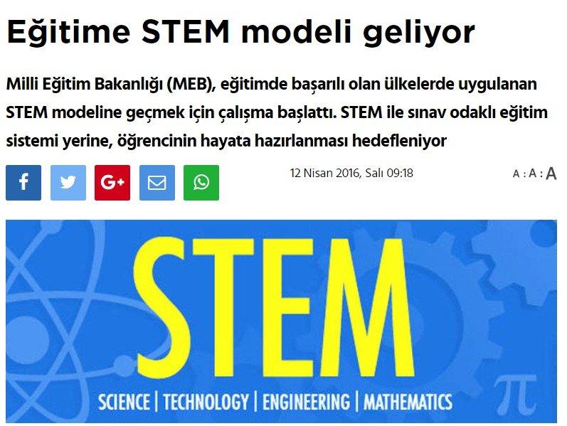 Eğitime STEM Modeli Geliyor